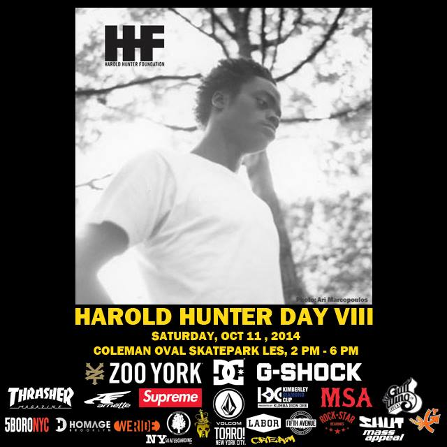 Today: Harold Hunter Day VIII (2014)